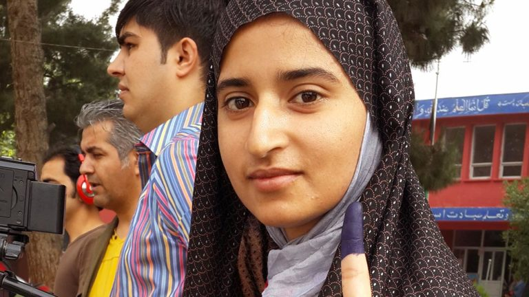 En väljare i Afghanistan