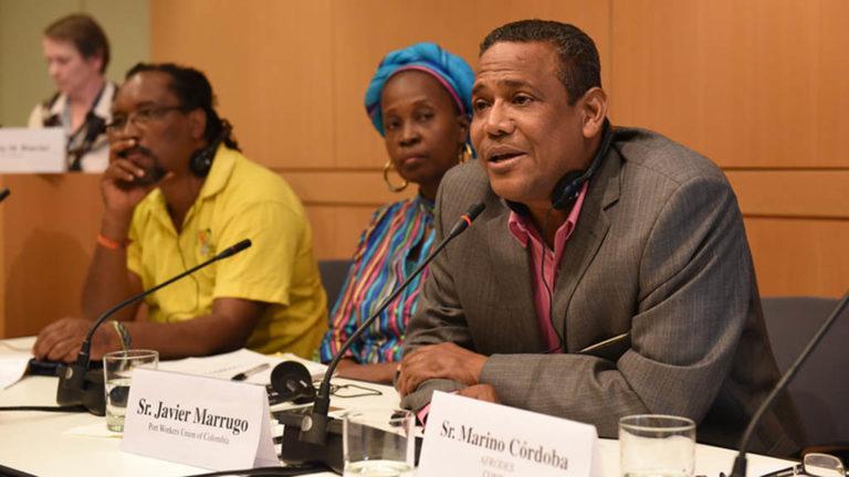 Representater för afro-colombianska organisationer i Colombia.