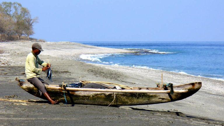Fiskare i Östtimor