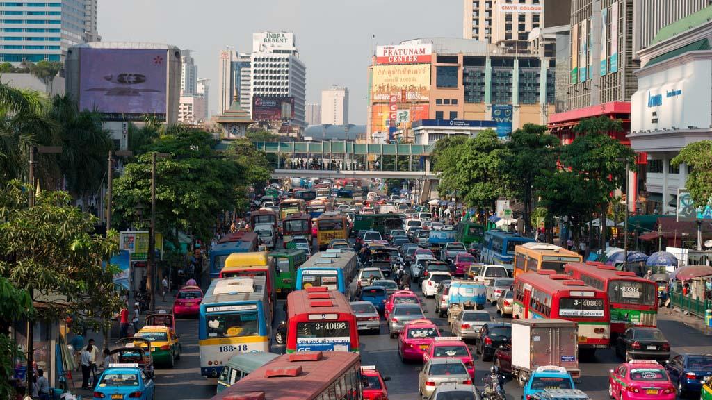 Trafikstockning i Bangkok.