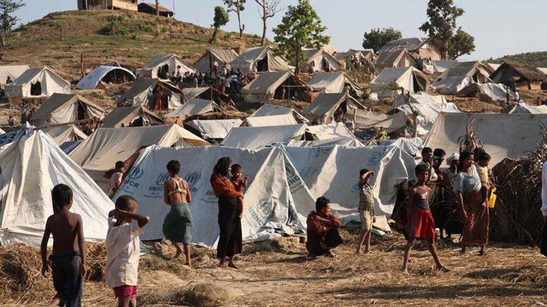 Flyktingläger i västra Burma