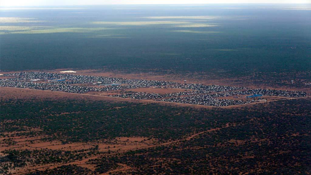 Flyktingläger i Dadaab, Kenya.