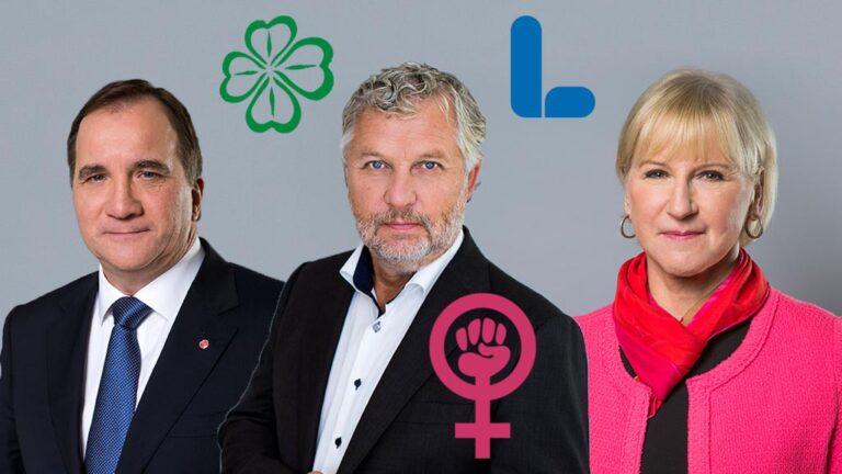 Stefan Löfven, Peter Eriksson och Margot Wallström