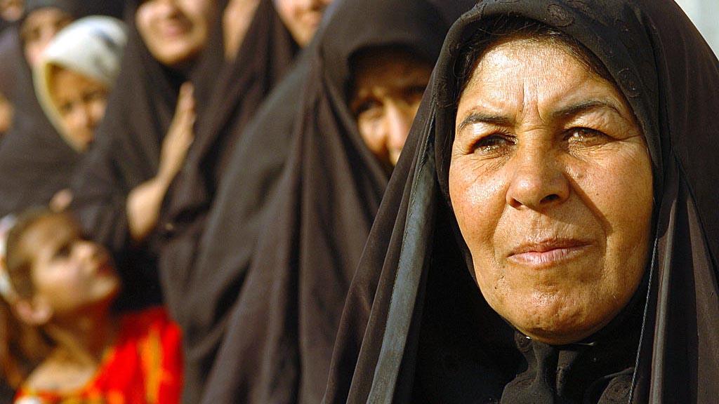 Irakiska kvinnor i Kamaliya