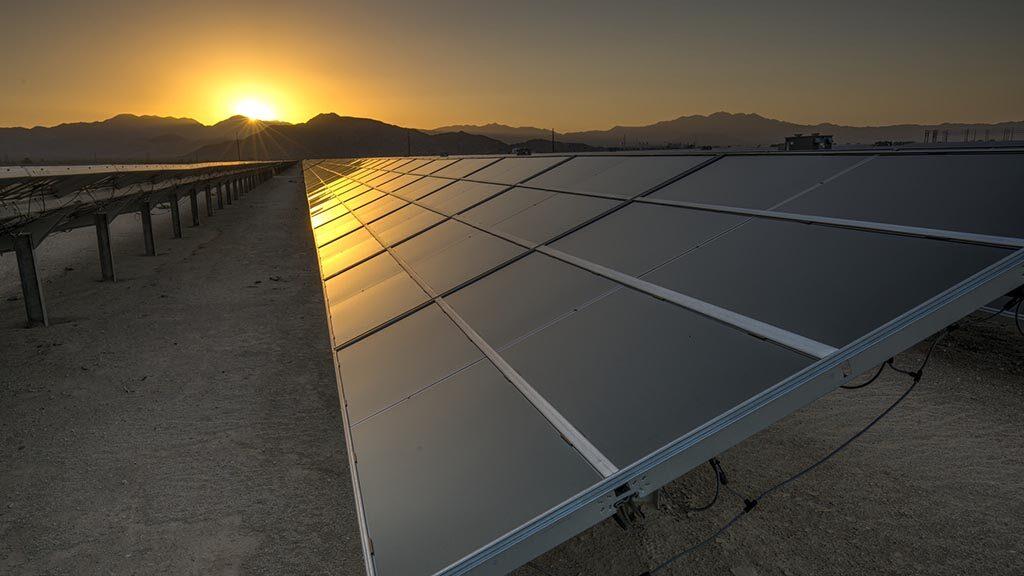 Solpaneler i Kalifornien.