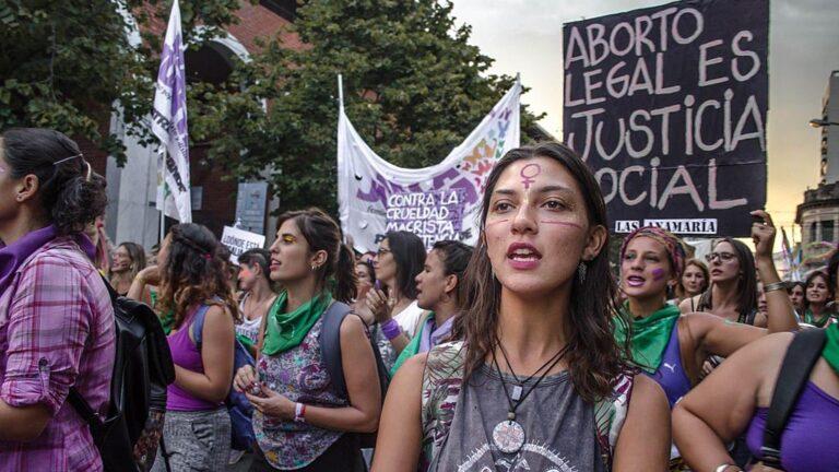 Demonstration för abort i Argentina