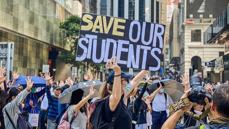 Demonstranter i Hongkong