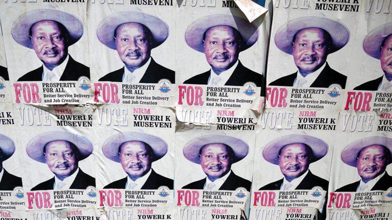 Valaffischer på Yoweri Museveni