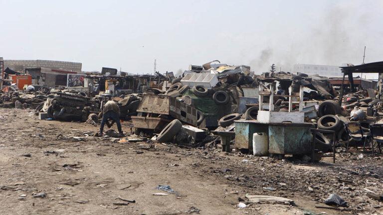 Scrapyard in Ghana