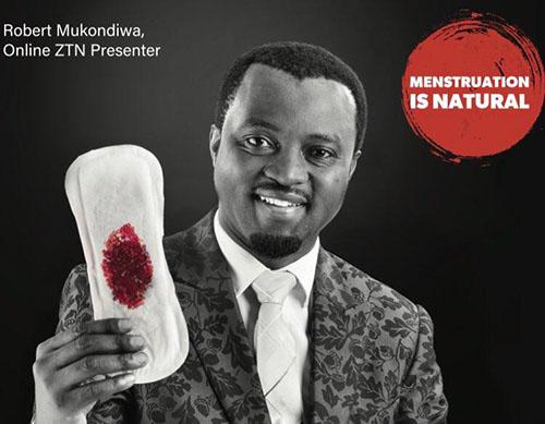 Kampanjbild för att prata om mens